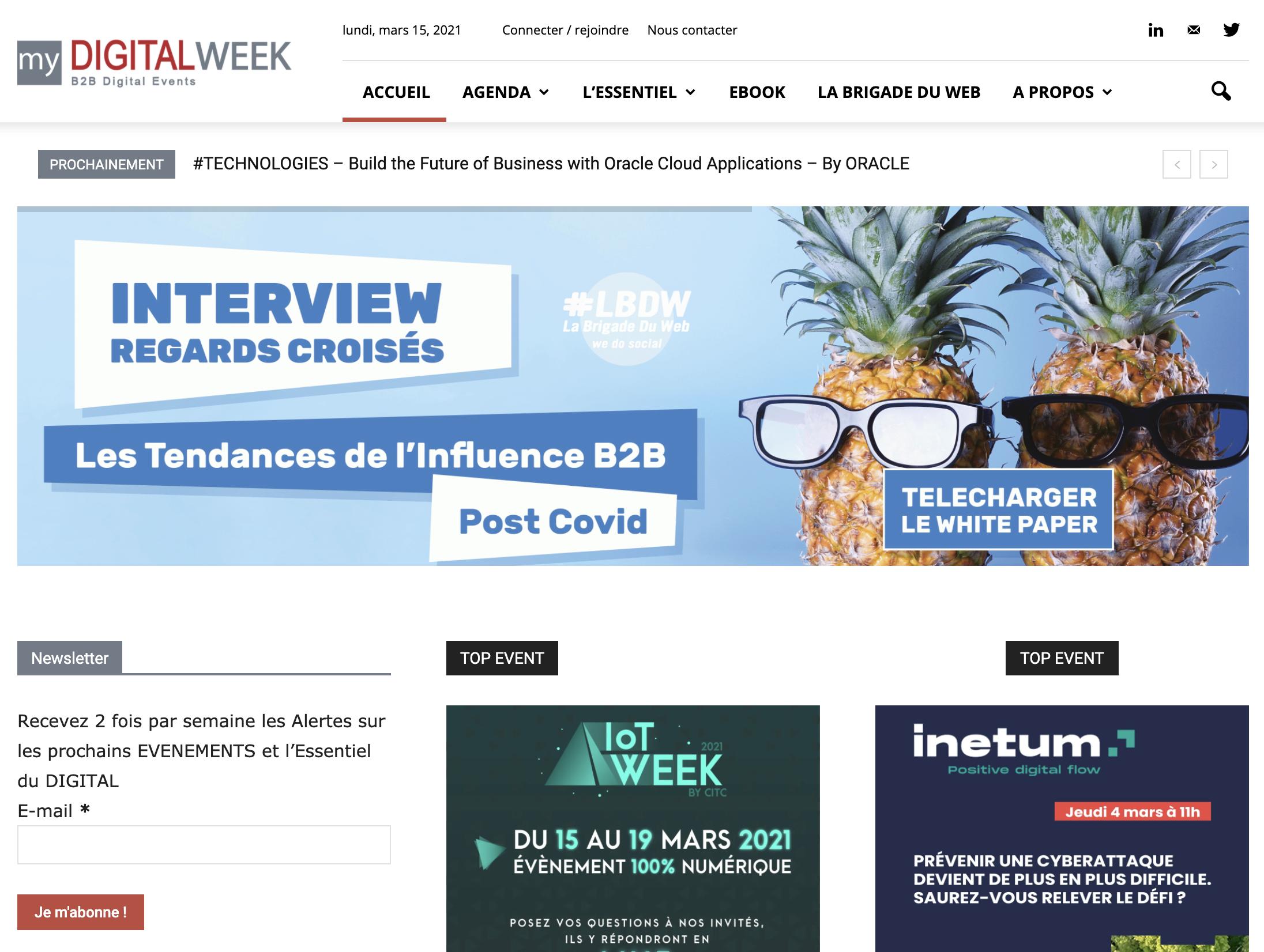 Mydigitalweek Agenda marketing du digital